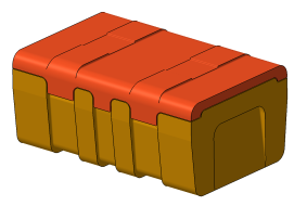 Vývoj forem a dílů, 3D model 1 - Box 530x325x200, Omnipack