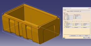 Vývoj forem a dílů, 3D model 2 - Box 530x325x200 - vana, Omnipack